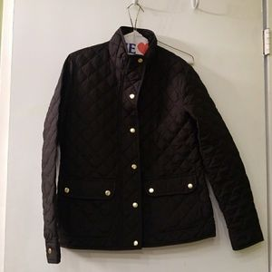 J. CREW  black with gold quilted jacket